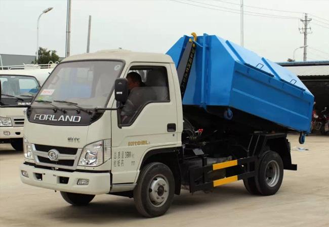 国五福田时代车厢可卸式垃圾车