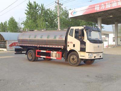 国五解放10吨鲜奶运输车